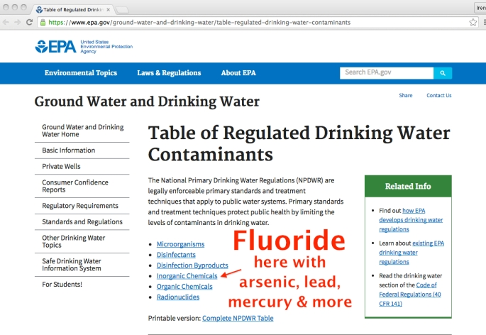 epa water contaminants front1