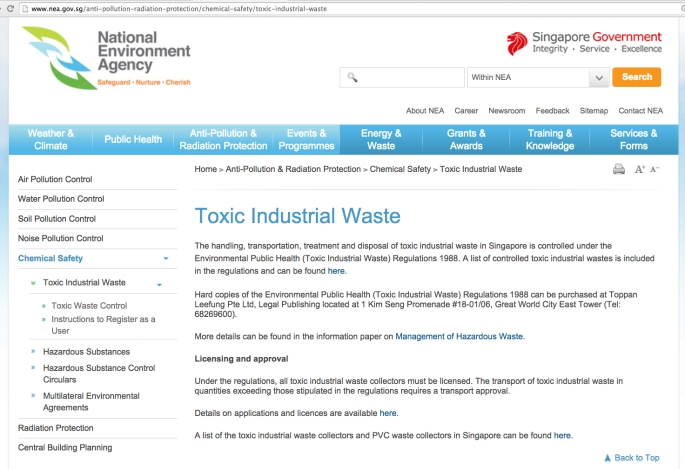 nea toxic waste